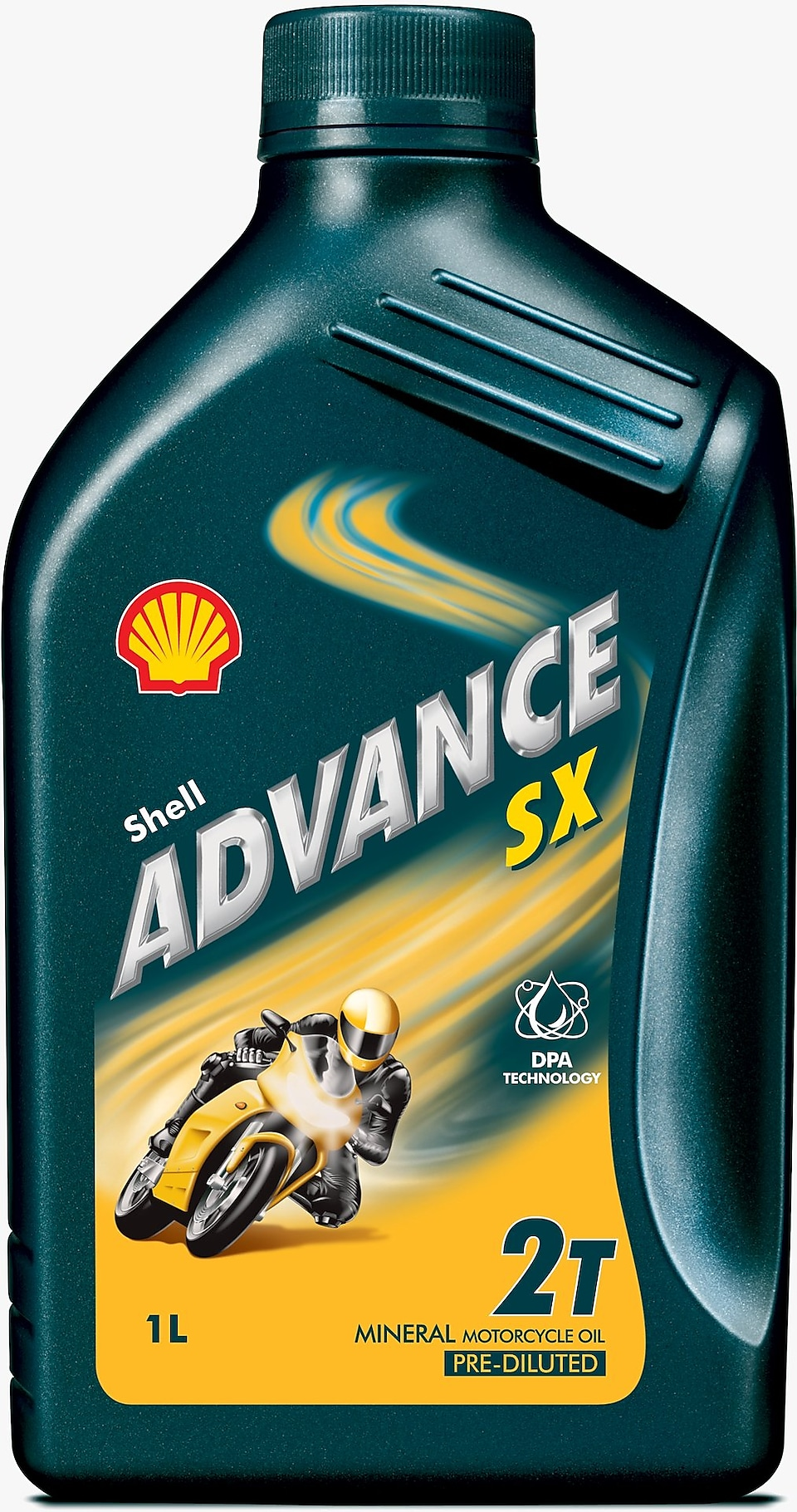 لقطة لعبوة زيت شل Advance SX 2