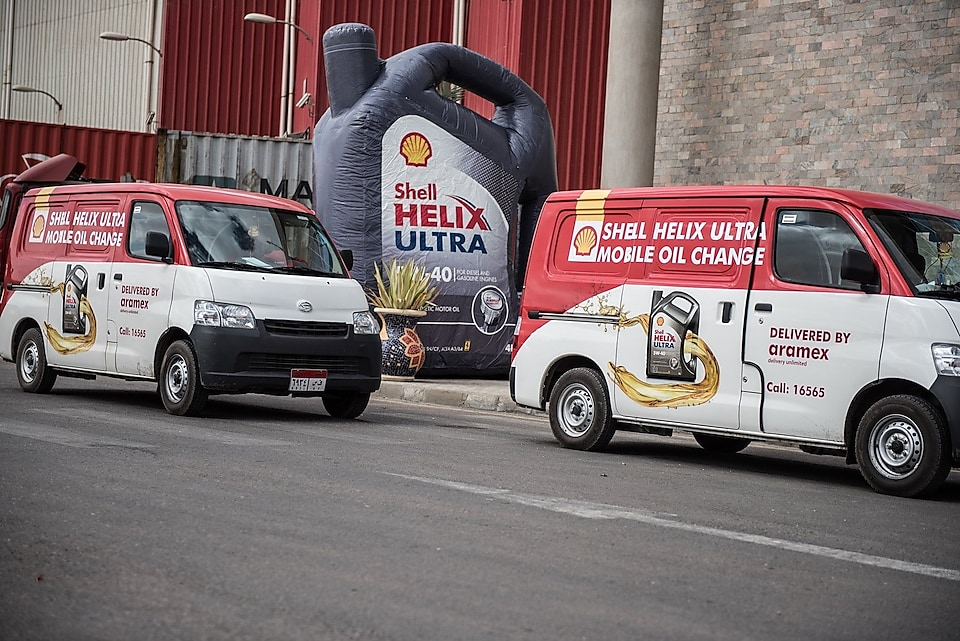 Shell Egypt oil change delivery service