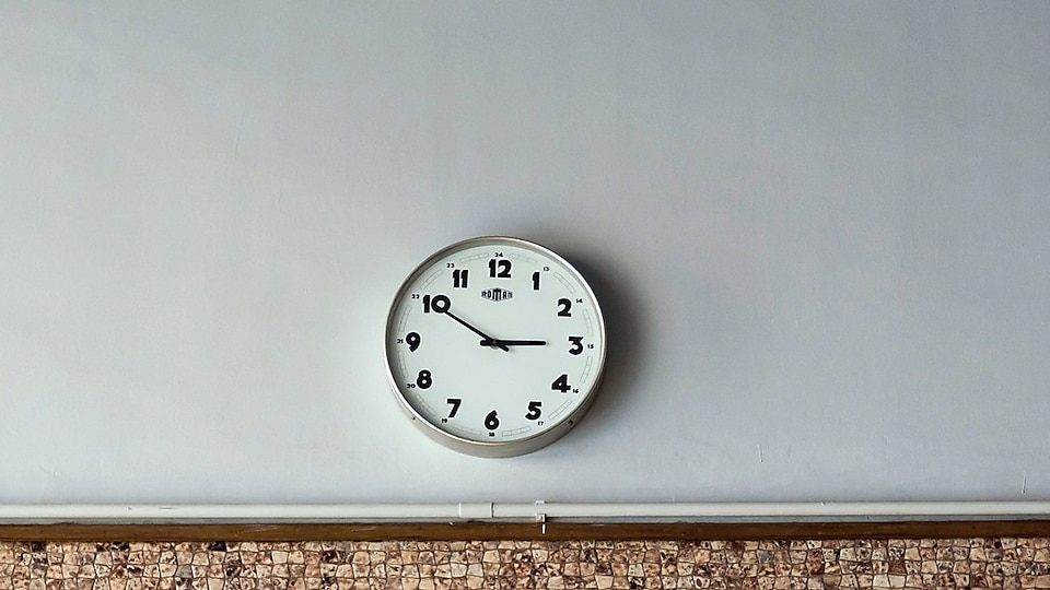 Wall Clock placed on wall