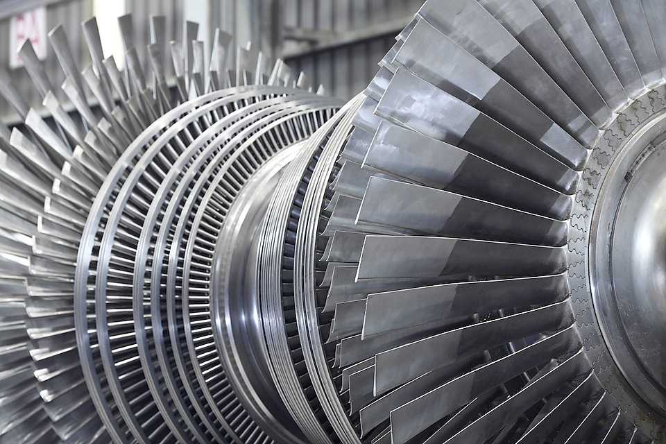 nternal rotor of a steam Turbine at workshop