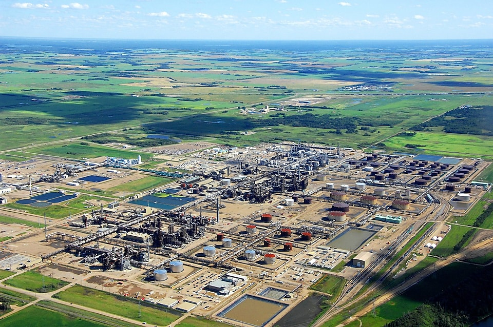 Aerial view of the Quest CCS project in Canada
