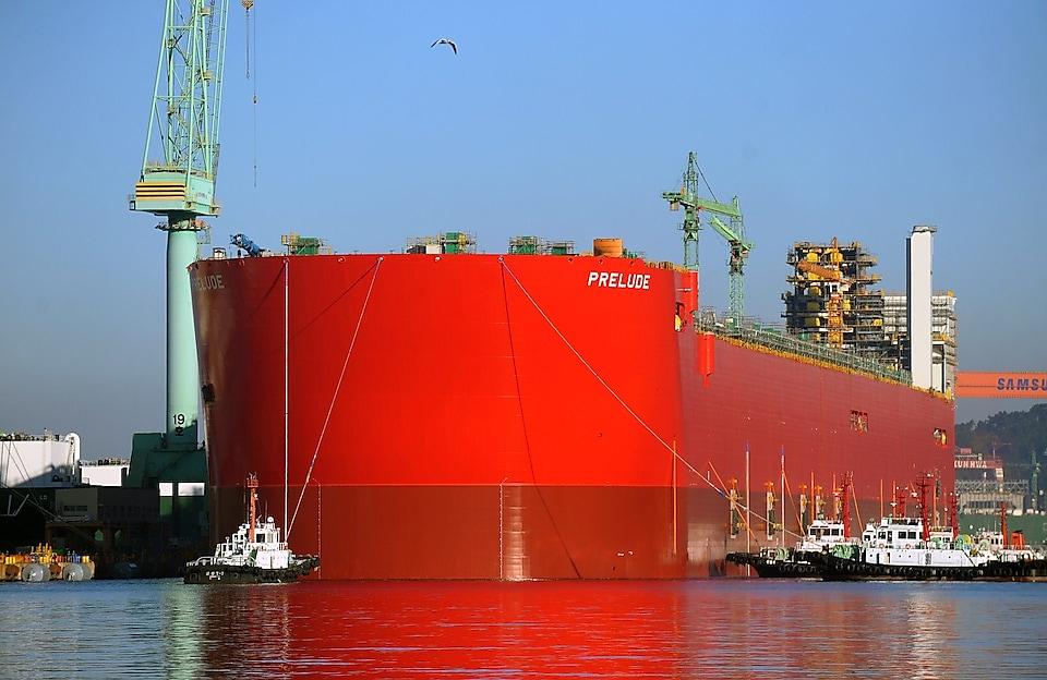 Prelude FLNG under construction